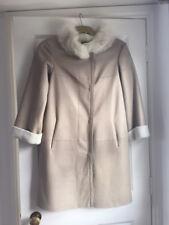 Giorgio Armani Sheepskin Leather With Fur Collar Cuffs Coat EU 38 NEW RRP €4000