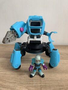 Imaginext Mr Freeze Robot Walker Vehicle Play-set + Mr Freeze Figure In VGC
