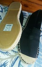 L@@K NWT NEW LOOK SIZE 8/42 HIPPIE SUMMER HOLS ESPADRILLE SLIP ON TYPE  SHOES