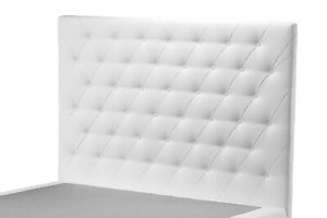Headboard For Bed 1 Square And Half Raffaello H 94/106 Eco-Leather (Not The Bed)