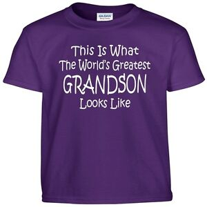 Worlds Greatest GRANDSON T shirt  Boys Youth Kids and Adult Tee T Shirt