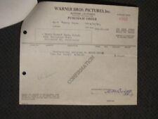 Bette Davis  - Original Warner Brothers 1946 Make Up Purchase Order