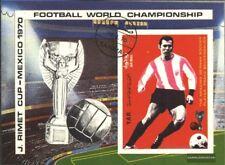 North Yemen block125 (complete issue) used 1970 Football-WM, Me