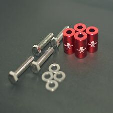 "RED 1"" BILLET HOOD VENT SPACER RISER KITS FOR TURBO/ENGINE/MOTOR SWAP 8MM"