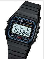 CASIO MEN'S CLASSIC BLACK DIGITAL Black Watch F-91 W