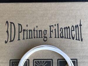 White 3D Pen Refill Filament - PLA 1.75mm - Single 10 Foot Strand