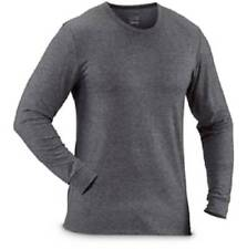 $85 32 DEGREES Men's GRAY BLACK THERMAL CREW-NECK SHIRT LONG-SLEEVE BASE LAYER S