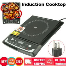 1000W Kitchen Electric Induction Cooktop Cooker Portable Burner Digital HotPlate