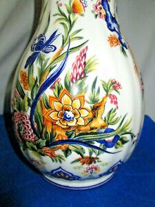 "Vintage Magnificent 4524 Ardalt Jardin Pavone Made in Italy 10"" Peacock Vase"