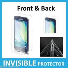 Samsung Galaxy A5 INVISIBLE Screen Protector Shield - Military FRONT AND BACK