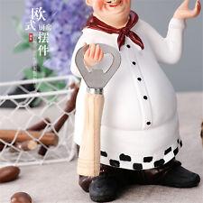 Home Kitchen Bar Restaurant Decor Ornament Figure Statue Chef Beer Bottle Opener