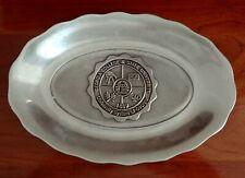 "Pewtarex Oval Pewter Tray platter dish Georgia State University 7.5 x 10.5"""