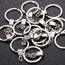 10pcs HOT DIY 30mm Polished Silver Keyring Keychain Split Ring Short Chain