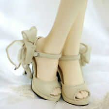 1//3 SD BJD Doll Shoes Mesh Fabric High Heeled Boots Sandal Pure White AOD DF AF