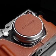 GARIZ Leather Lens Capfix Fuji X100s X100F Leica X2 XA-CFX100CM2 Black