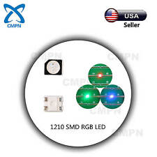 100Pcs 1210 3528 SMD SMT LED Chip RGB Tri-Color Red Green Blue Light Lamp Diodes