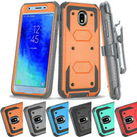 Shockproof Hybrid Holster Cover Case For Samsung Galaxy J3 2018/Orbit/Achieve