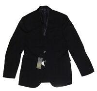 $1,495 Ralph Lauren Black Label Mens Italy Nigel 2 Silver Button Wool Sportcoat