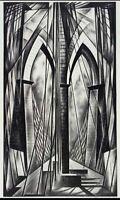 Howard Cook : Brooklyn Bridge : 1949 : Archival Quality Art Print