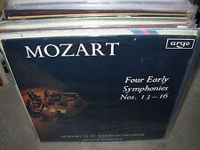 MARRINER / MOZART four early symphonies 13 ~ 16 ( classical ) argo uk