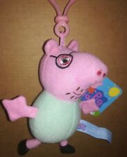 Peluche Papà Pig Portachiavi 15 cm, serie Peppa Pig, originale con etichette