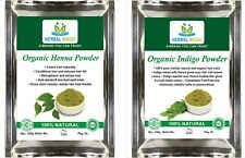 USDA Certified Organic Henna Powder 100g + Indigo Powder 100g Natural Hair Color