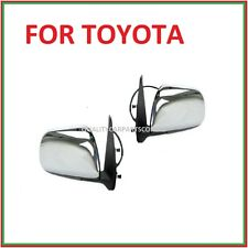 Door mirrors door Left and right sides (electric) Chrome for Toyota Hilux 2005-2