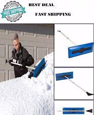 Car Truck Cleaning Windshield Ice Scraper Telescoping Foam Brush Snow Broom Joe