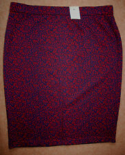 NEW Sz 20 Jacquard Flock Textured Midi Skirt Exposed Zip Froont Kick Pleat Cute