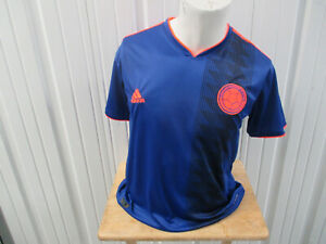 VINTAGE adidas COLOMBIA NATIONAL FUTBOL TEAM LARGE JERSEY 2018 KIT WORLD CUP