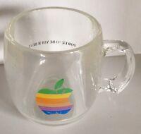 Rare Vintage Apple Computer mug Rainbow Apple Logo Promo Macintosh Cup