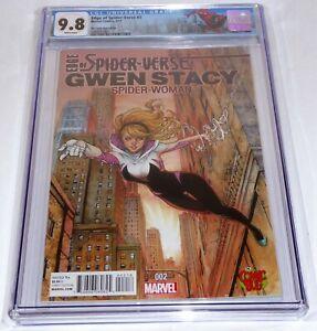 Edge of Spider-Verse #2 CGC Universal Grade Comic 9.8 Comic Bug Color Variant