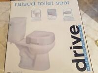 """NEW IN SEALED BOX DRIVE MED Raised Toilet Seat 4"""" White 300 lbs #12040-3"""