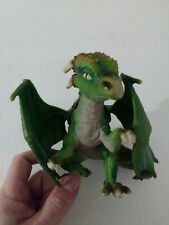 """Schleich Green Dragon Figure Missing the Rider Approx. 5"""" Tall"""