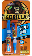 Gorilla super glue impact tough formula 2 x tubes
