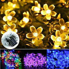 50/100 LED Solar Powered Flower Fairy Lights Outdoor Garden Party String Lights