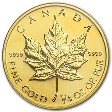 1997 Canada 1/4 oz Gold Maple Leaf BU - SKU #82835