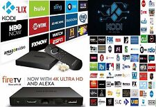 4K FIRE TV BOX W/ALEXA 17.3 TV MOVIES - LIVE TV - SPORTS - NEVER PAY CABLE AGAIN