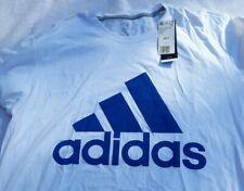 Adidas Mens Badge of Sport Classic Blue/ White Athletic T-Shirt Big & Tall 2-XLT