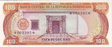 REPUBLIQUE DOMINICAINE : RARE 100 PESOS 1977 SPECIMEN EMISSION SPECIALE - P.CS4