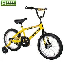 "Yellow Boys Bike 16"" Children Starter Bicycle Training Wheels Durable Kids Toy"
