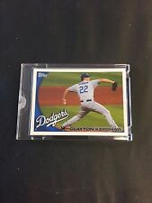 2010 Topps Vault Blank Back Clayton Kershaw Los Angeles Dodgers Card RARE 1/1
