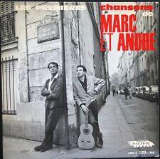 RARE 25CM MARC ET ANDRE Les Premières chansons  FERRE / LEMARQUE / BRUANT