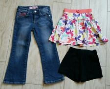 Lot of 3 items Zanadi Jeans size 5 w/adjustable waist-Circo Skirt/Shorts size 5T