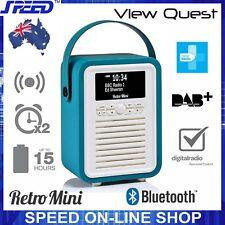 VQ View Quest Retro Mini DAB DAB+ FM Radio Bluetooth Speaker - Electric Blue