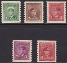 1942-43 Canada - Sg 389/393 Set Of 5 MNH