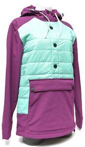 Spyder Bobby Brown Puffy Midweight Ski Jacket Hooded Men XS Freeski Pullover