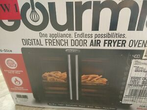 New Gourmia Digital French Door Air Fryer Toaster dehydrator convection Oven