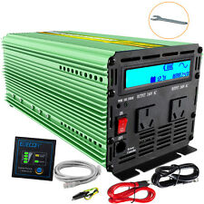 EDCOA Pure Sine Wave Power Inverter 1500W 3000W 12V to 240V Camping Boat remote