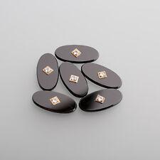 Onyx Cabujón Piedra de anillo hombres 20x10mm ovalo con 1 negro / BOX (1) - 2